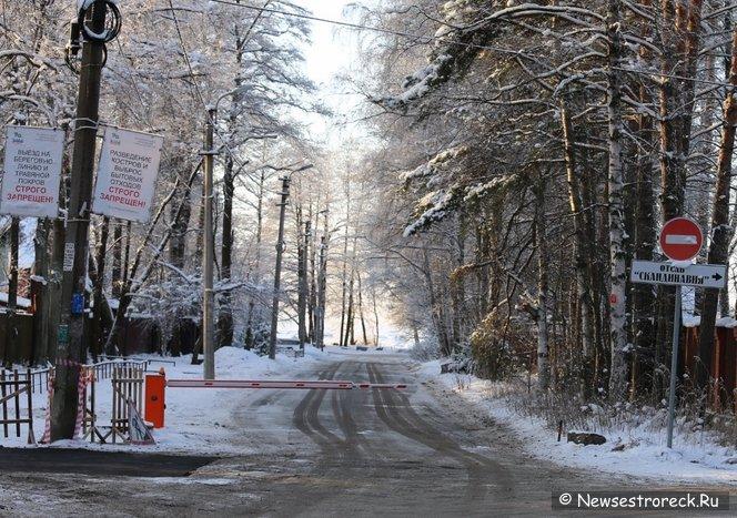 Незаконные шлагбаумы в Сестрорецке демонтировали