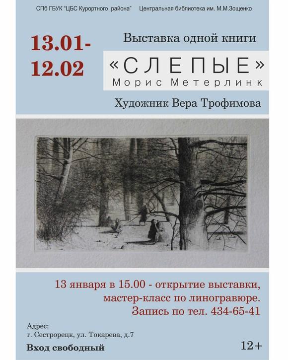 Выставка одной книги «Слепые»