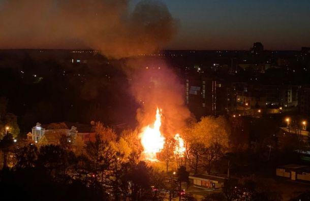 В Сестрорецке сгорел «Проклятый» дом